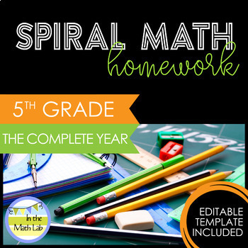 Math Homework 5th Grade - The Complete Year GROWING BUNDLE