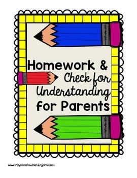 Math Homework & Check for Understanding