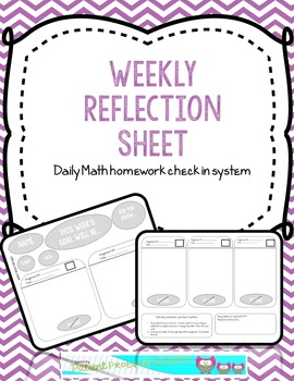 Math Homework Check in System: Weekly Reflection Sheet