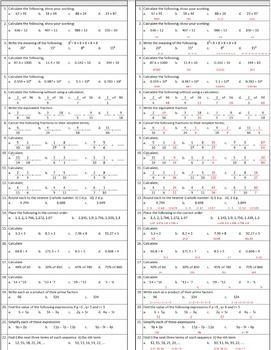 Math Homework, Level 5 Kit; Mastery of Number & Algebra, a