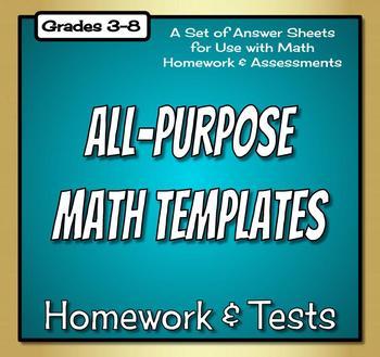 Math Homework Template