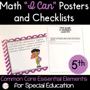 Math I Can Statements for Common Core Essential Elements (