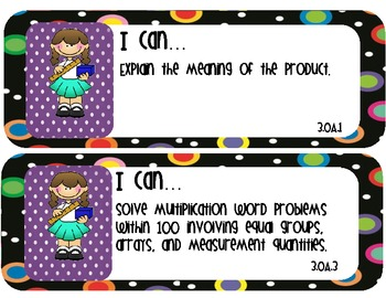 Math I Can Statements for Display- 3rd Grade