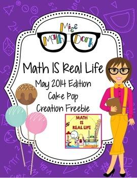 Math IS Real Life May FREEBIE - cake pop creation logical