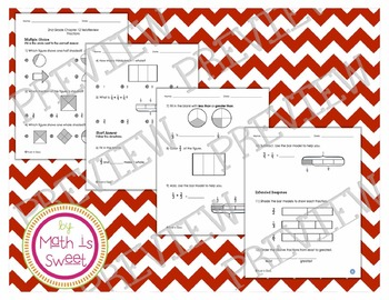 Math In Focus - Grade 2 - Chapter 12 (Fractions) Review/Test