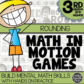 Math In Motion - Third Grade Hands-On Math Games - Rounding