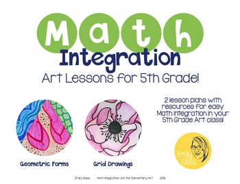 Math Integration Lessons for Visual Art- Fifth Grade