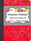 Math Interactive Notebook 3rd Grade Texas Standards 1 and