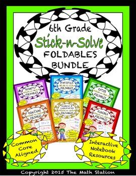 Math Interactive Notebook 6th Grade ALL YEAR FOLDABLE BUND
