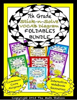 Math Interactive Notebook 7th Grade ALL YEAR FOLDABLE BUND