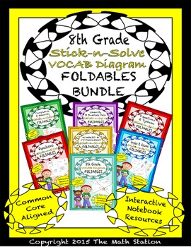 Math Interactive Notebook 8th Grade ALL YEAR FOLDABLE BUND