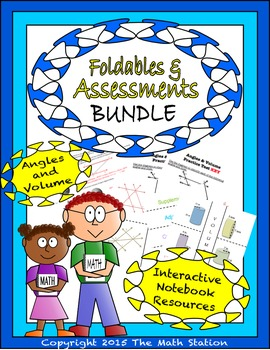 Math Interactive Notebook - Assessments & FOLDABLES Angles
