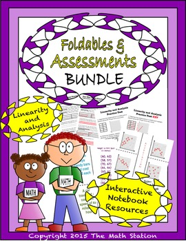 Math Interactive Notebook - Assessments & FOLDABLES Linear