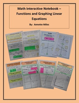 Math Interactive Notebook - Functions and Linear Equations