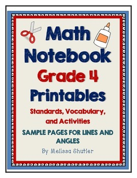 Math Interactive Notebook Printables Grade 4- FREEBIE for