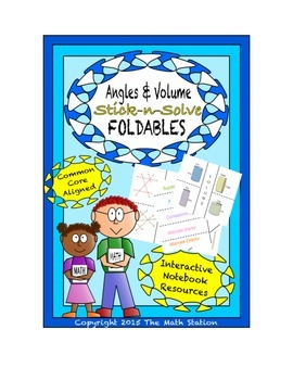 Math Interactive Notebook - Stick-N-Solve FOLDABLES Angles