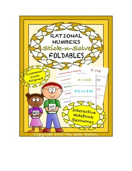 Math Interactive Notebook - Stick-N-Solve FOLDABLES Ration