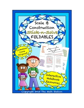 Math Interactive Notebook - Stick-N-Solve FOLDABLES Scale