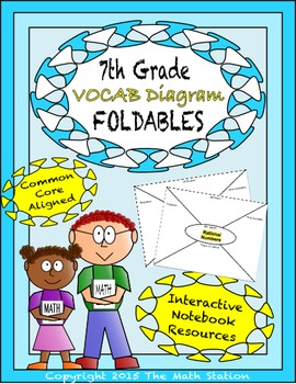 Math Interactive Notebook - Vocab Diagrams FOLDABLES 7th Grade