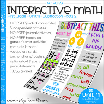Math Interactive Notebook and MORE! 1st Grade Unit 11