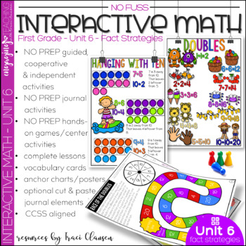 Math Interactive Notebook and MORE! 1st Grade Unit 6