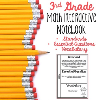 3rd Grade Math Interactive Notebook for Standards, Essenti