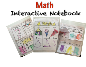 Math Interactive Notebooking Preschool & Kindergarten by Jady Alvarez
