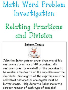 Math Investigation-Relating Fractions and Division!