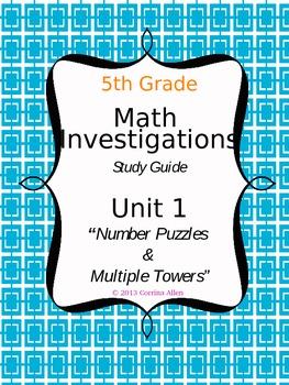 Math Investigations Study Guide {Grade 5, Unit 1}