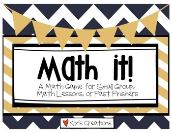 Math It! - A Math Game For Small Group, Math Lessons, or F