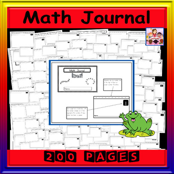 Math Journal -200 numbered pages for tracking school days