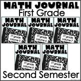First Grade Math Journal Bundle Second Semester