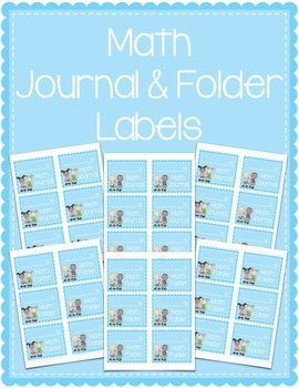 Math Journal & Math Folder Labels