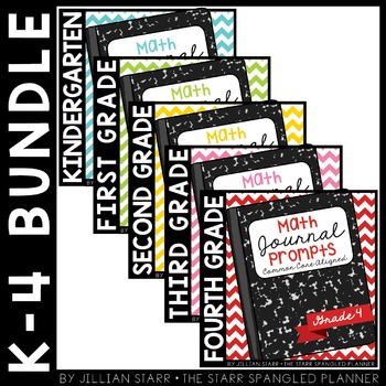 Math Journal Prompts {Aligned to Common Core} Complete Set K-4
