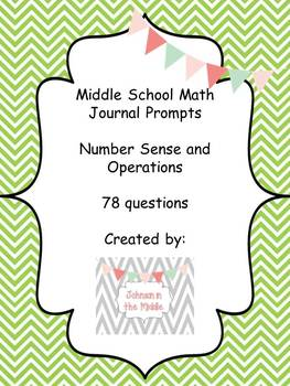 Math Journal Prompts (Essential Questions for Numbers and