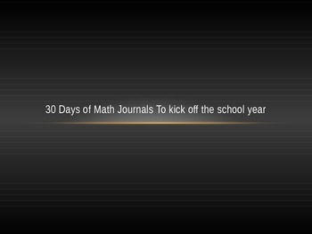 Math Journal Prompts To Kick Off The School Year