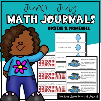 Math Journal Prompts for April and May