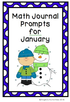 Math Journal Prompts for January