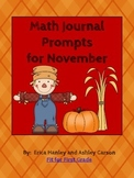 Math Journal Prompts for November