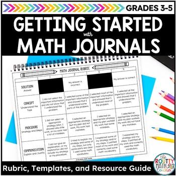 Math Journal Rubric & Scoring Guide