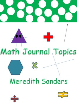 Math Journal Topics