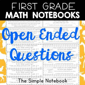 Math Journals: First Grade Open-Ended Questions