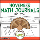 Math Journals for Pre-K: NOVEMBER