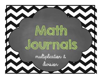 Math Journals for older kiddies- multiplication and division