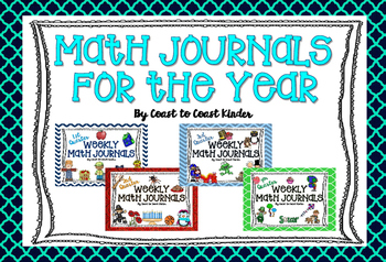 Math Journals for the Year! 1st, 2nd, 3rd, & 4th Quarters