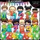 Math Kids Clip Art Bundle (2 Sets) - Math Clip Art