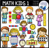 Math Kids Clip Art - Whimsy Workshop Teaching