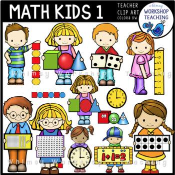 Math Kids Clip Art - Whimsy Workshop Teaching
