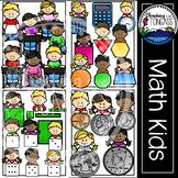 Math Kids Clipart MEGA Bundle