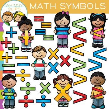 Math Kids - Math Symbols Clip Art